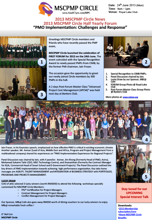 MSCPMP Half Yearly Forum Newsletter